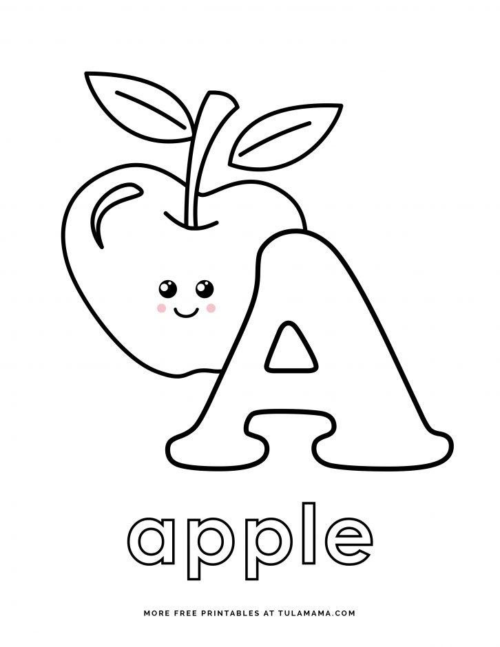 Fun And Easy To Print ABC Coloring Pages For Preschoolers & Kindergartners  - Tulamama