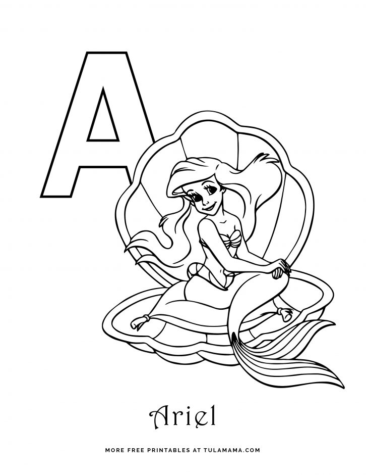 Free Printable Disney Alphabet Coloring Pages - Tulamama
