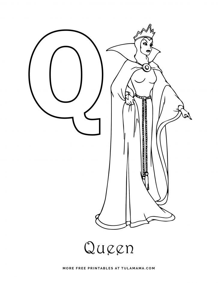 Free Printable Disney Alphabet Coloring Pages - Tulamama