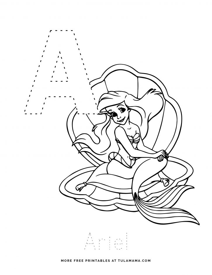 Free Printable Disney Alphabet Letter Tracing Worksheets - Tulamama