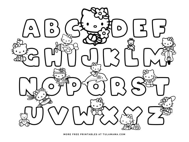 Free Hello Kitty Printables And ABC Coloring Pages - Tulamama