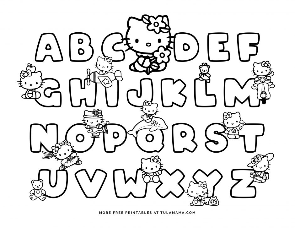 - Free Hello Kitty Printables And ABC Coloring Pages - Tulamama