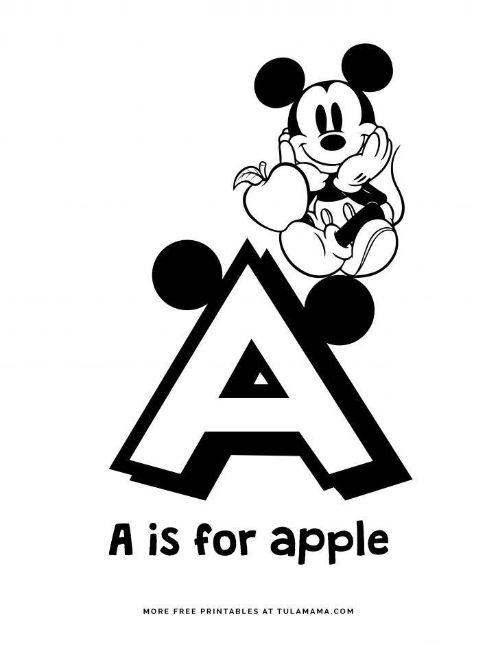 - Free Printable Mickey Mouse ABC Coloring Pages - Tulamama