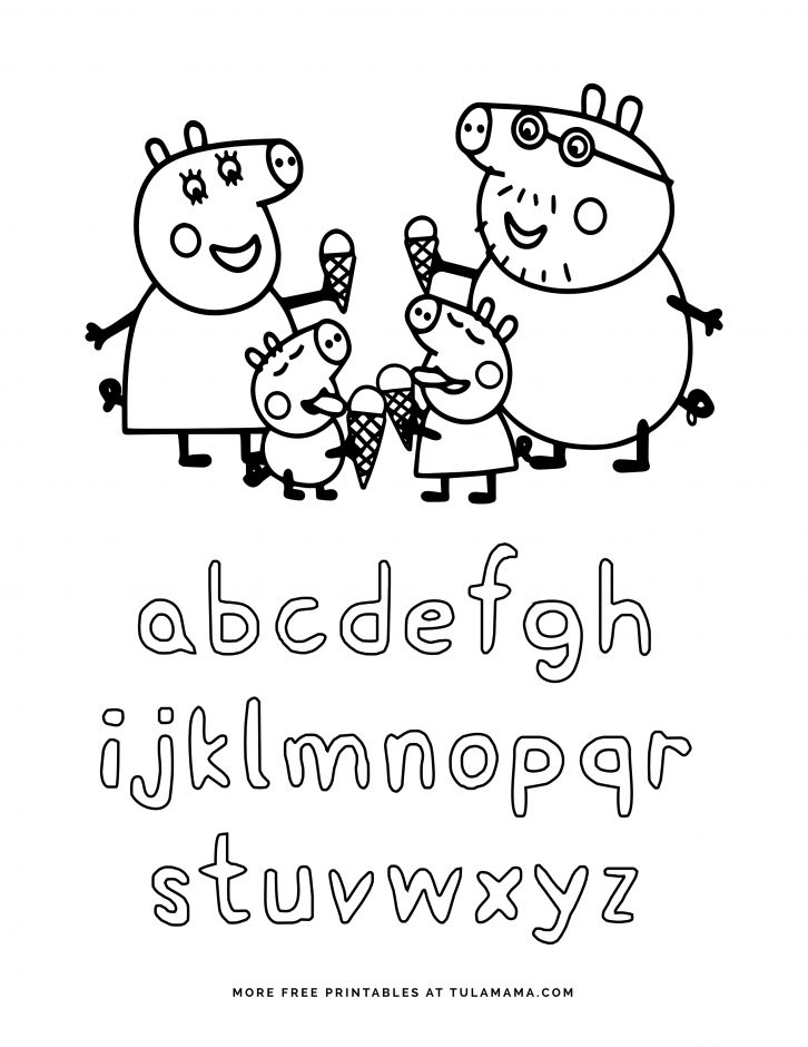 Peppa Pig Coloring Pages Printable Coloring And Drawing
