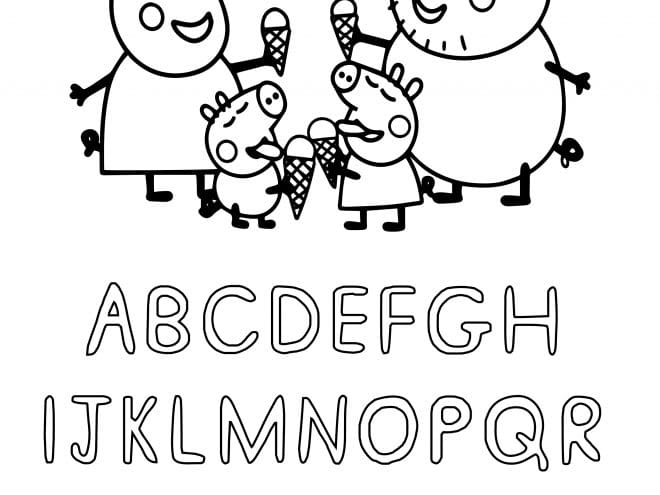 Free Printable Peppa Pig ABC Coloring Pages For Preschoolers - Tulamama