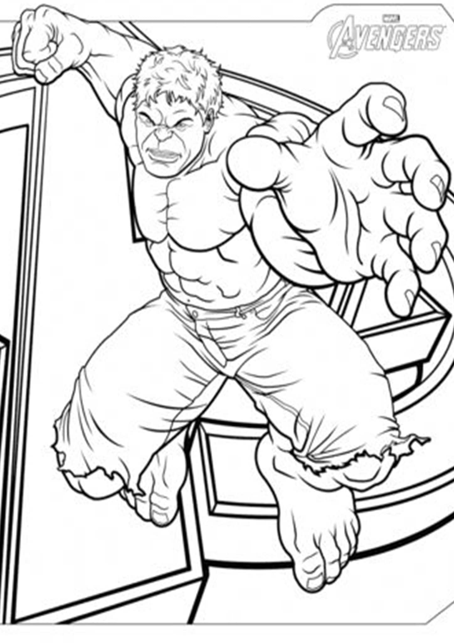 Free & Easy To Print Hulk Coloring Pages - Tulamama