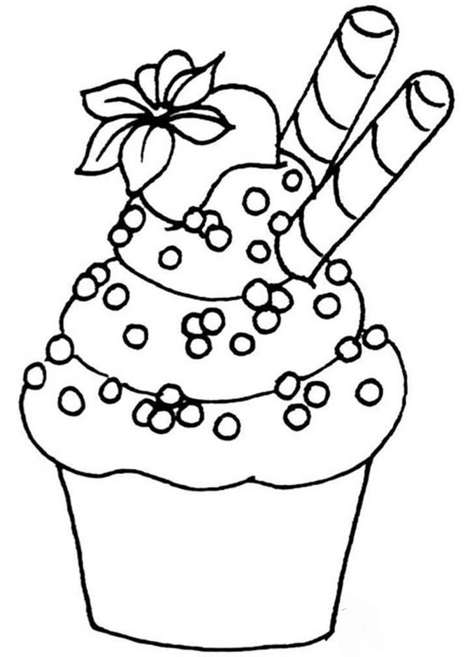 Free & Easy To Print Cupcake Coloring Pages - Tulamama
