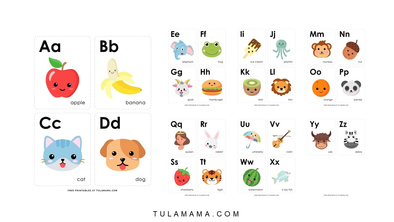 Fun Free Engaging Alphabet Flash Cards For Preschoolers Tulamama
