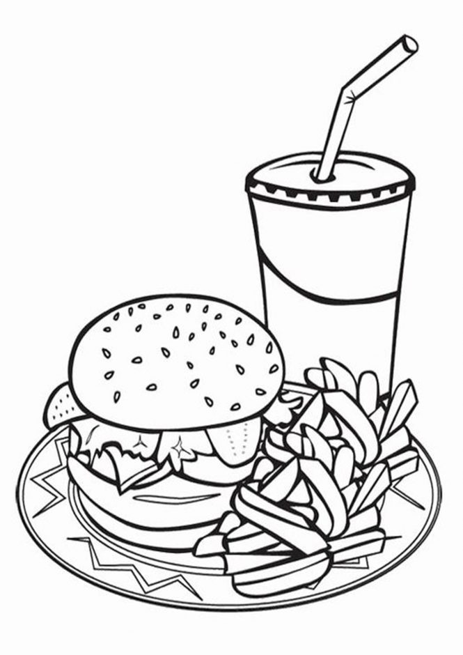 Free & Easy To Print Food Coloring Pages - Tulamama