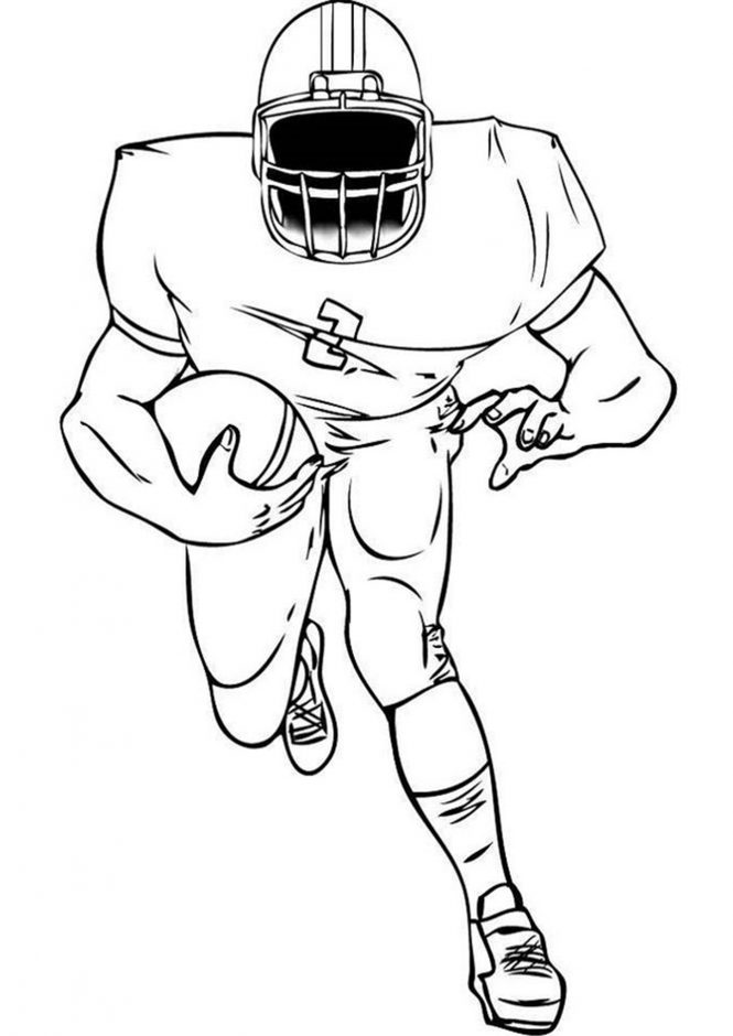 Free & Easy To Print Football Coloring Pages - Tulamama