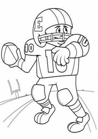 free  easy to print football coloring pages  tulamama