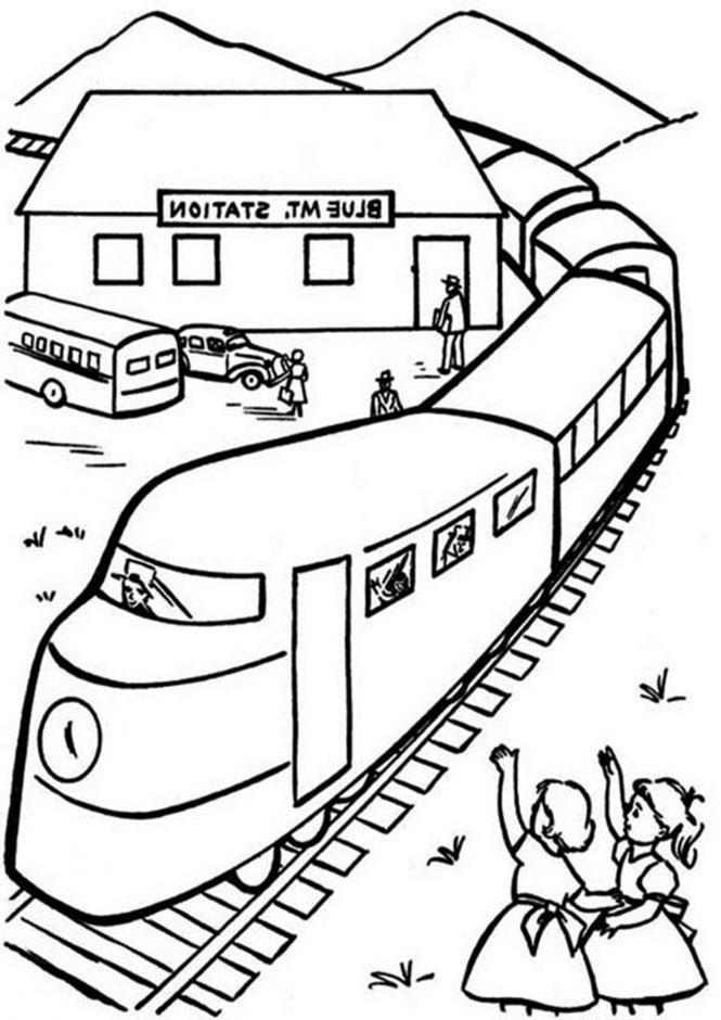 Free & Easy To Print Train Coloring Pages - Tulamama