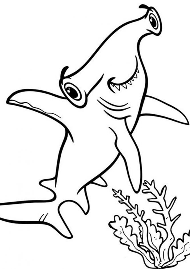 Free & Easy To Print Shark Coloring Pages - Tulamama