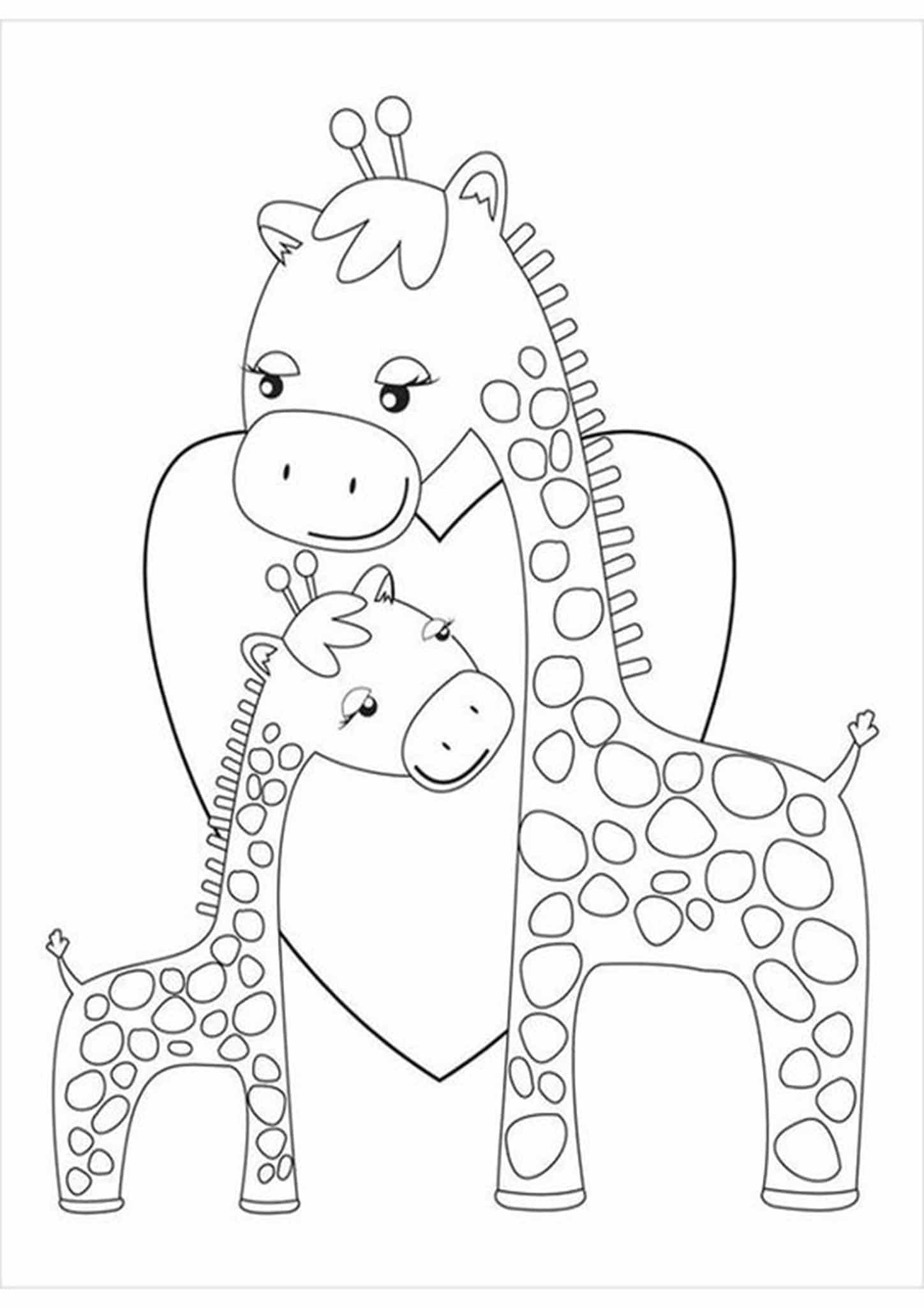 Free & Easy To Print Giraffe Coloring Pages - Tulamama