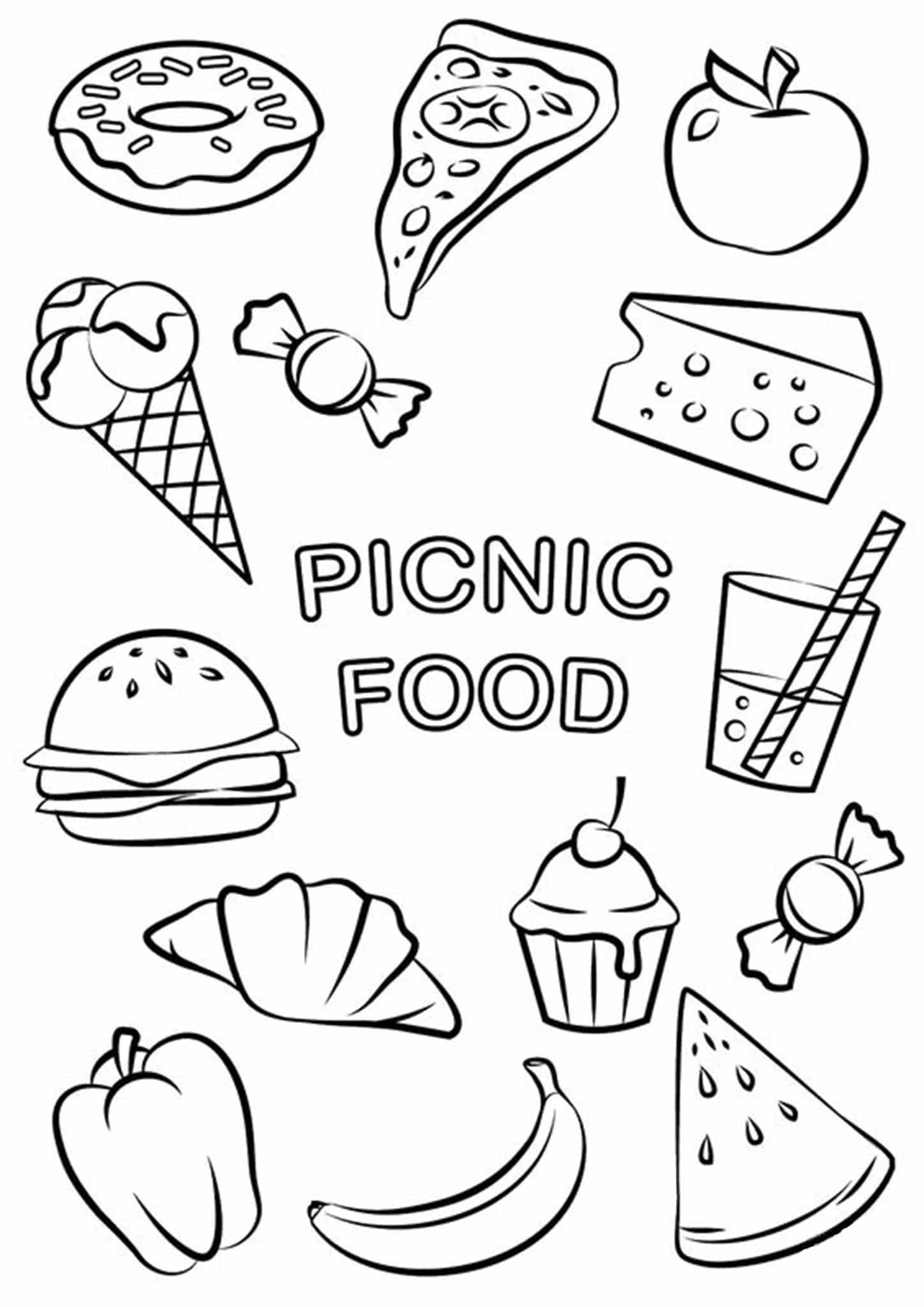 - Free & Easy To Print Food Coloring Pages - Tulamama