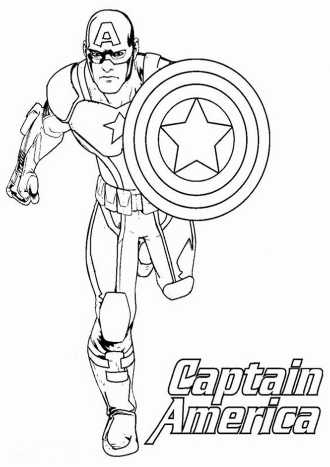 Free & Easy To Print Captain America Coloring Pages - Tulamama