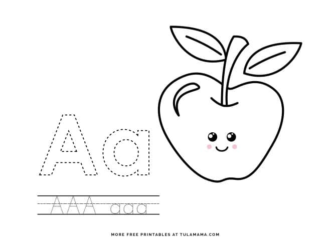 Free Printable Alphabet Traceable Letters For Preschoolers - Tulamama