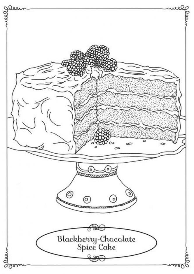 Free & Easy To Print Cake Coloring Pages - Tulamama