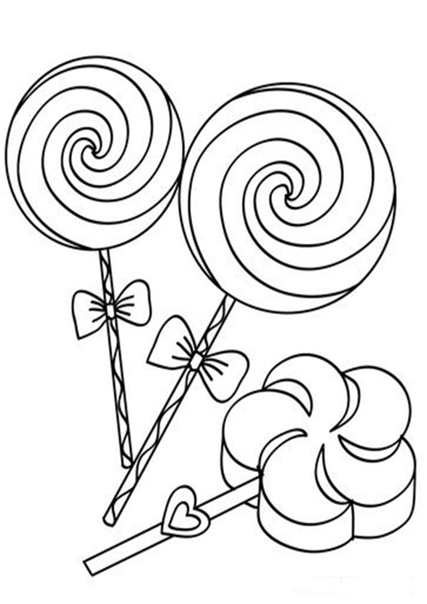 Free & Easy To Print Candy Coloring Pages - Tulamama