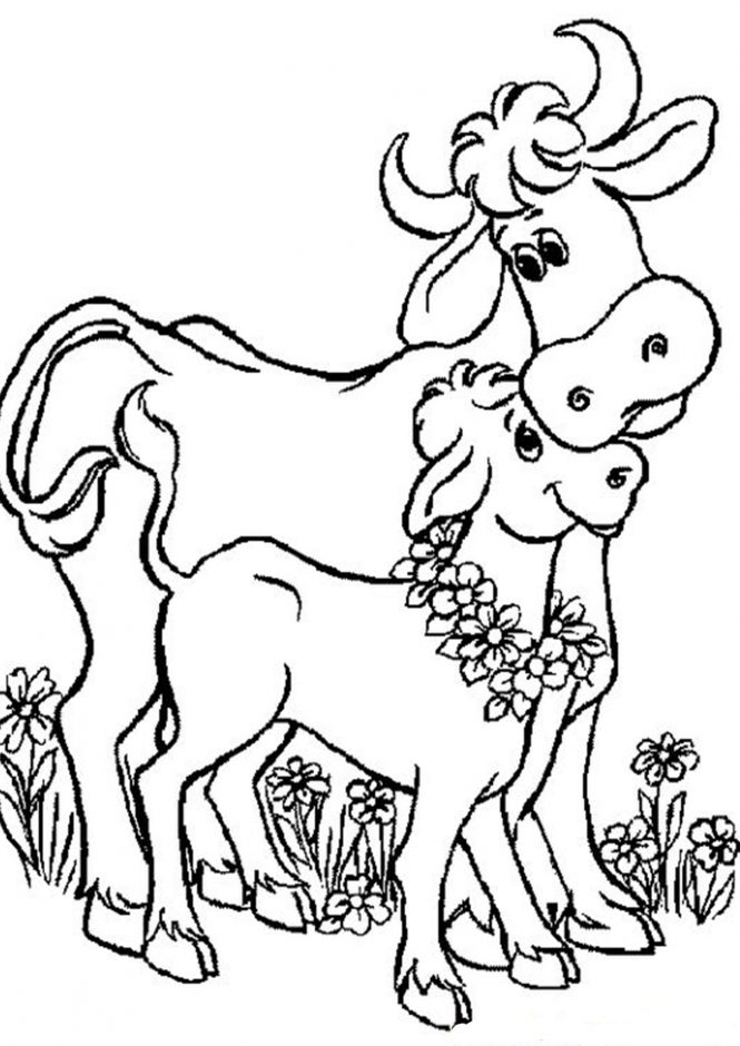 Free & Easy To Print Cow Coloring Pages - Tulamama