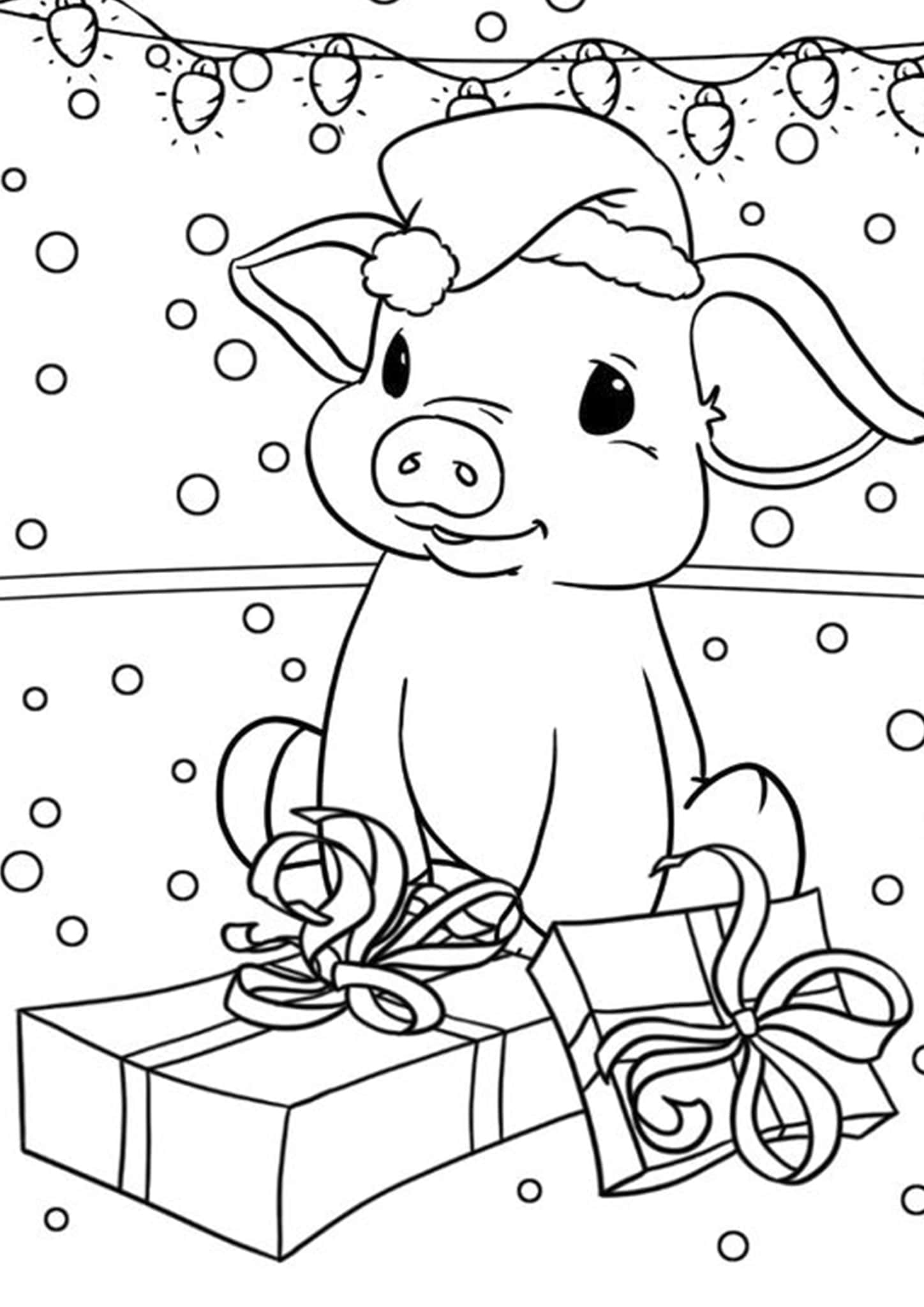 Free & Easy To Print Pig Coloring Pages - Tulamama