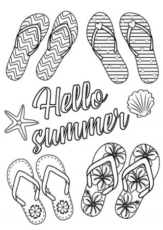free  easy to print summer coloring pages  tulamama