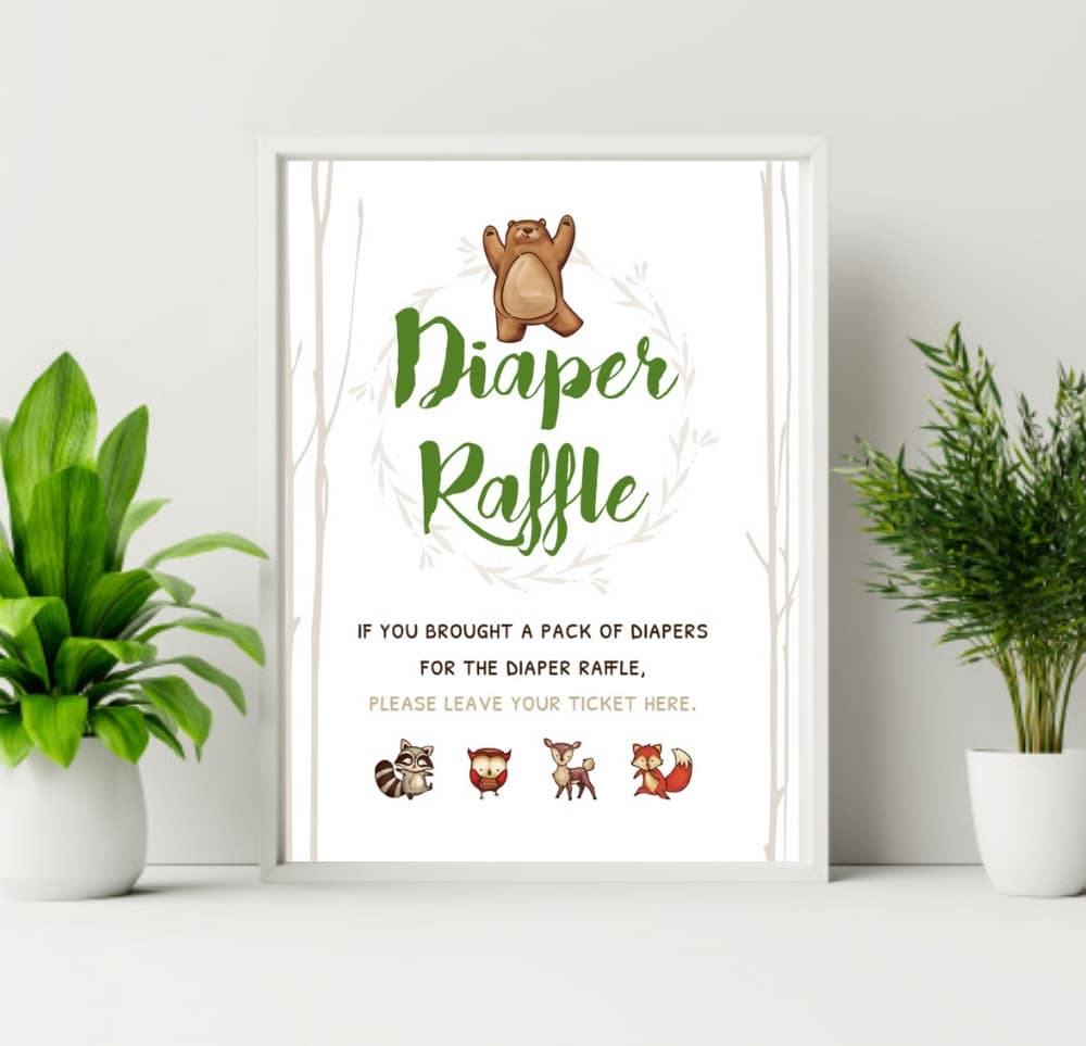 diaper raffle sign