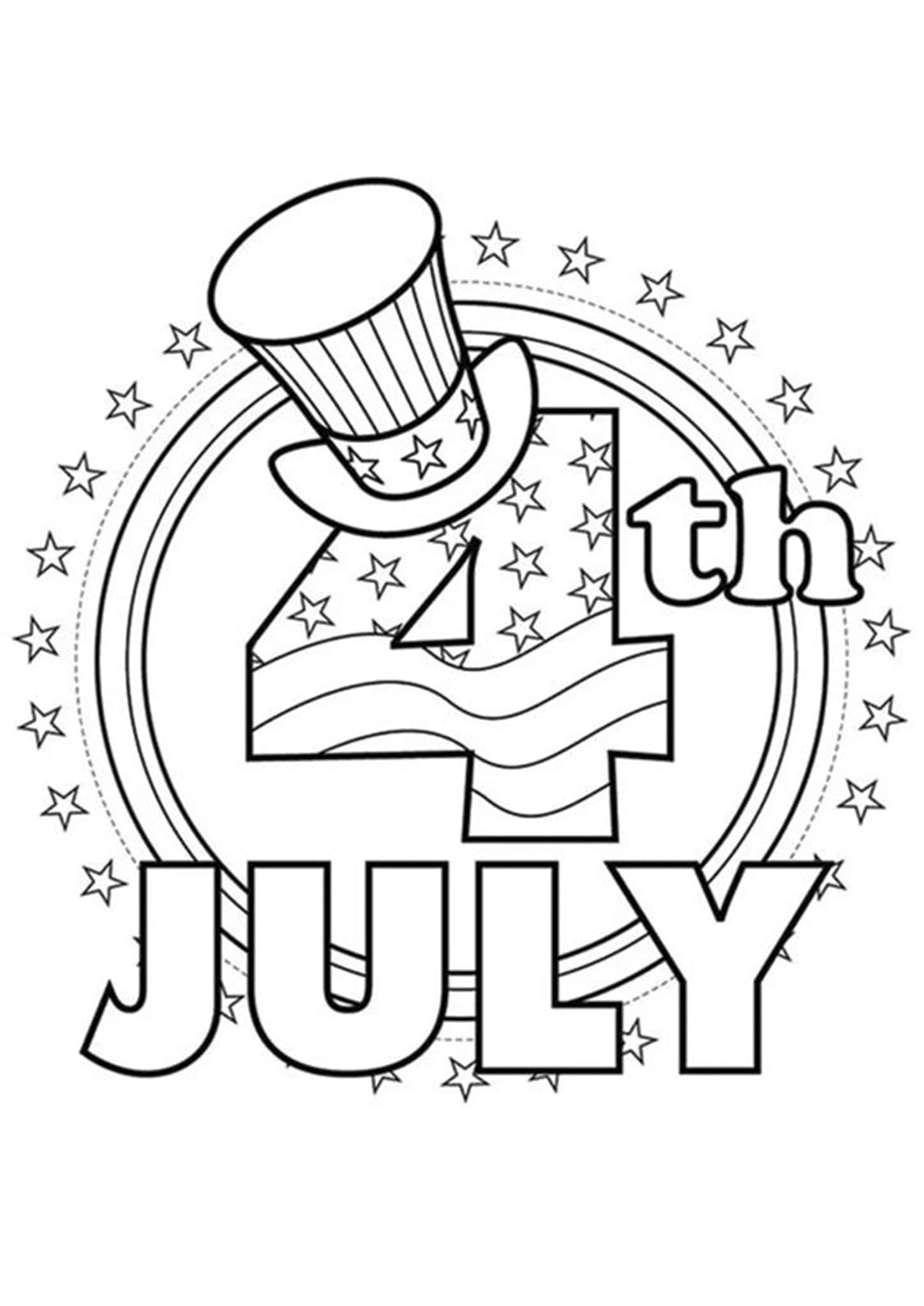 Free & Easy To Print 4th Of July Coloring Pages - Tulamama