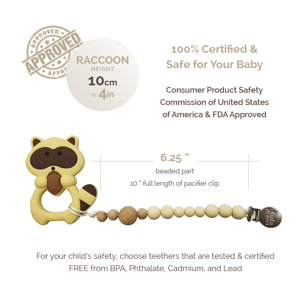 pacifier clip and teething toys baby gift set