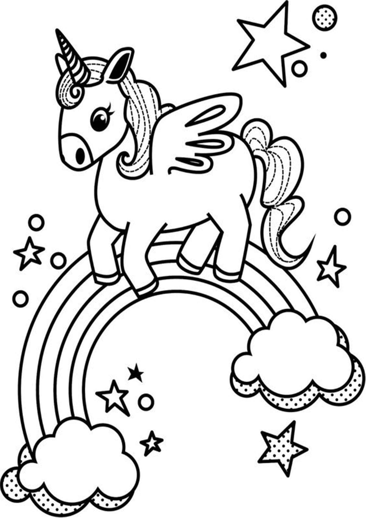 Free & Easy To Print Rainbow Coloring Pages - Tulamama