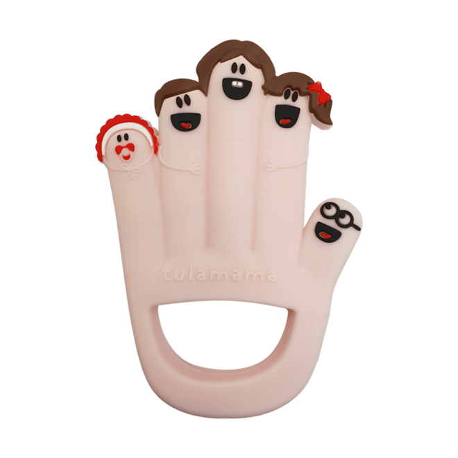 Finger family silicone baby teether