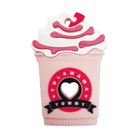 Starbucks frappe strawberry milkshake silicone best baby teether