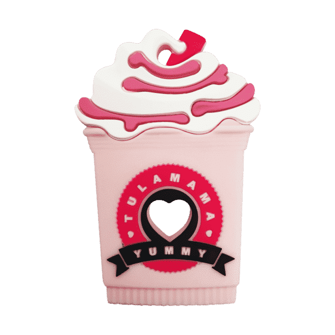 Starbucks frappe strawberry milkshake silicone best baby teether