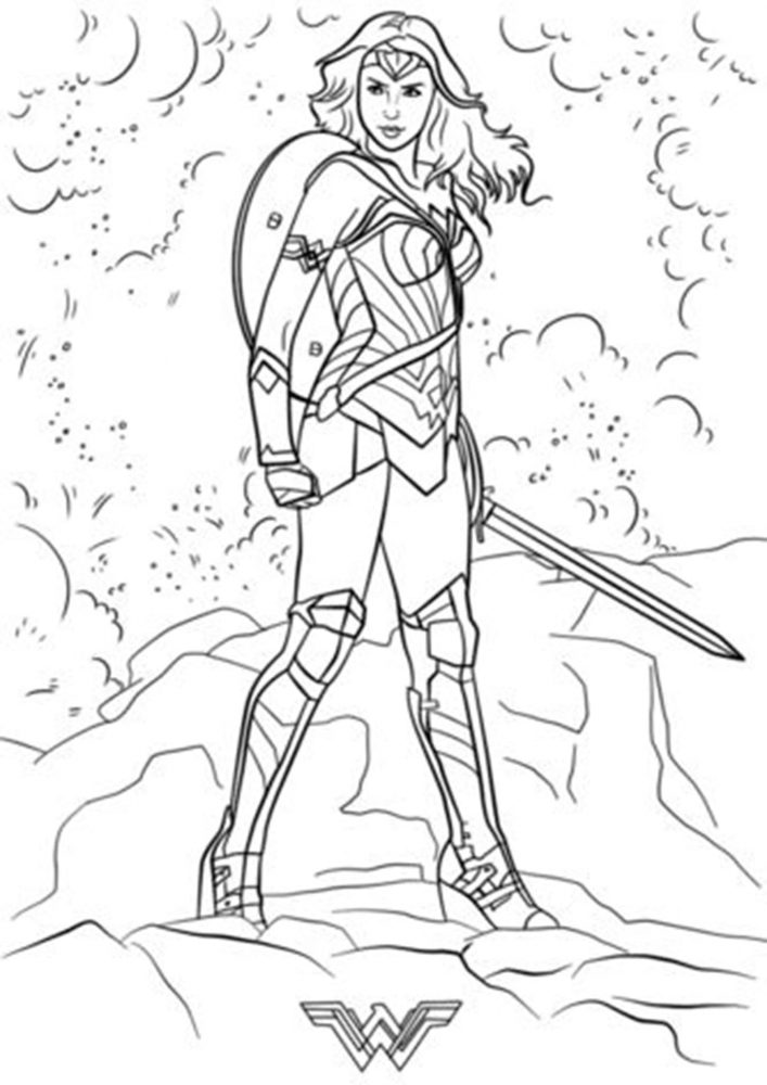 Free & Easy To Print Wonder Woman Coloring Pages - Tulamama