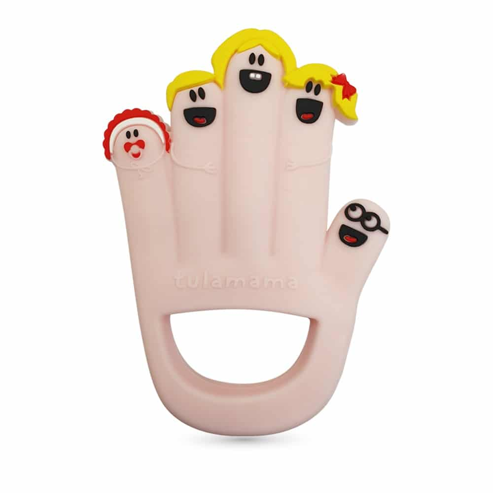 Finger family silicone baby toys and teethers for babies