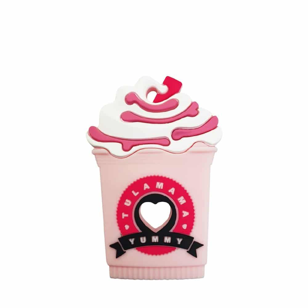 strawberry milkshake starbucks frappe best silicone baby teether toy