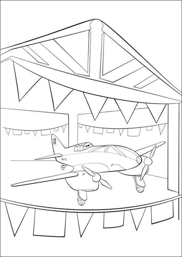 Fun airplane coloring pages for your little one. They are free and easy to print. The collection is varied with different skill levels and...