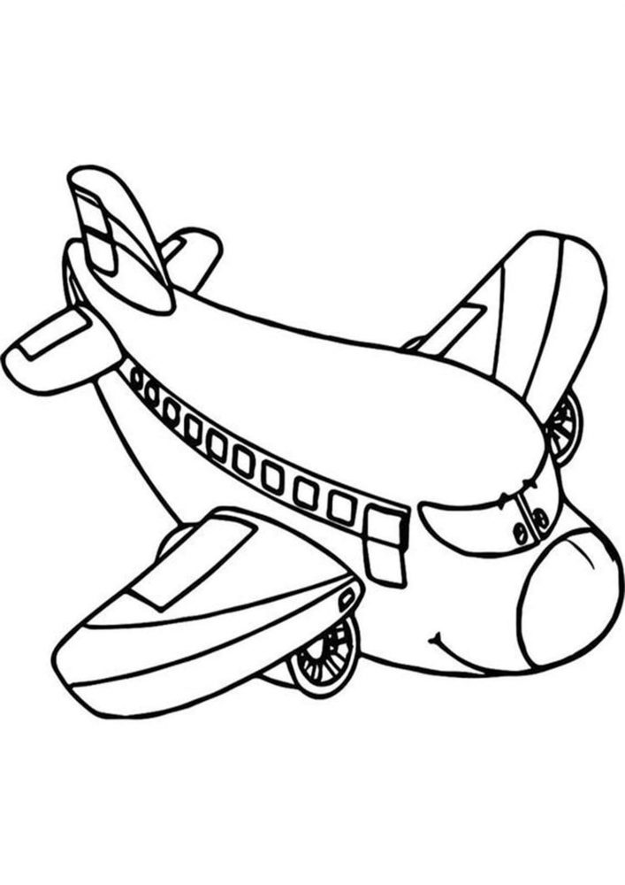 Free & Easy To Print Airplane Coloring Pages - Tulamama