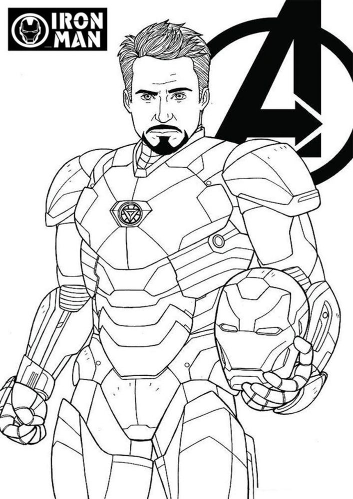 Free Easy To Print Iron Man Coloring Pages Tulamama