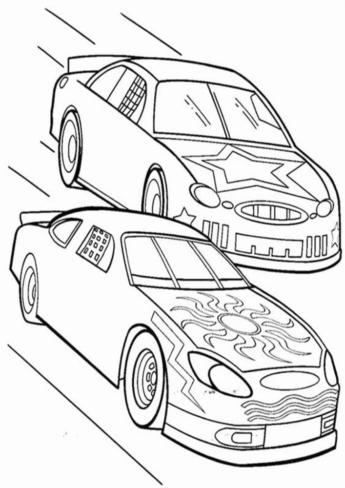 Free & Easy To Print Race Car Coloring Pages - Tulamama