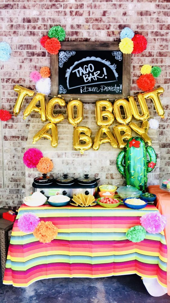 baby shower on a budget taco baby shower