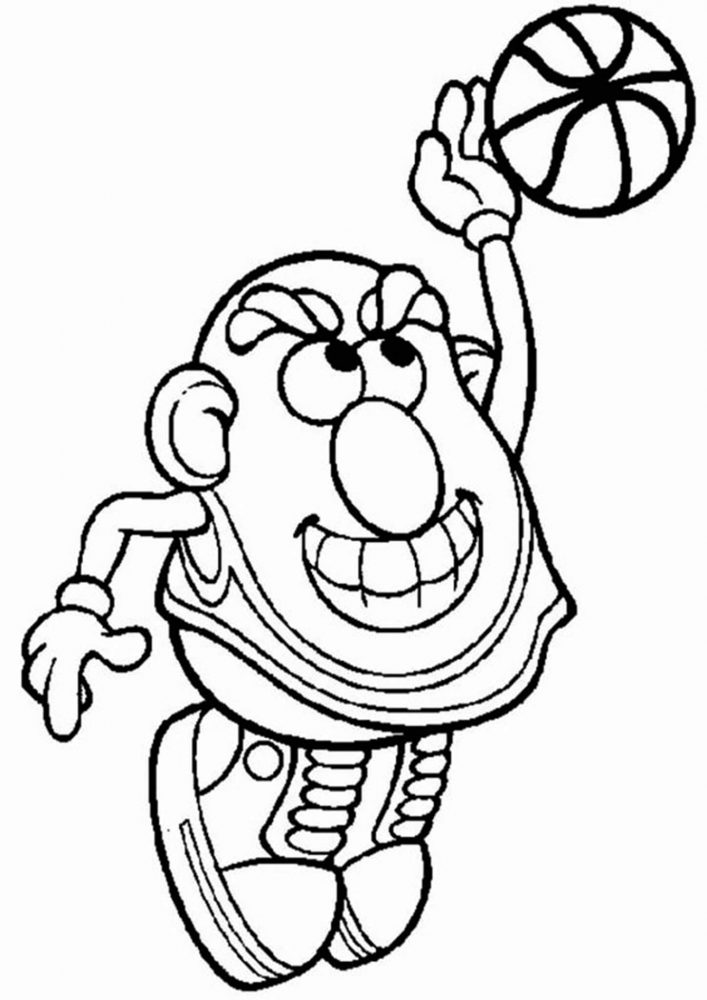 Fun Basketball coloring pages for your little one. They are free and easy to print. The collection is varied with different skill levels
