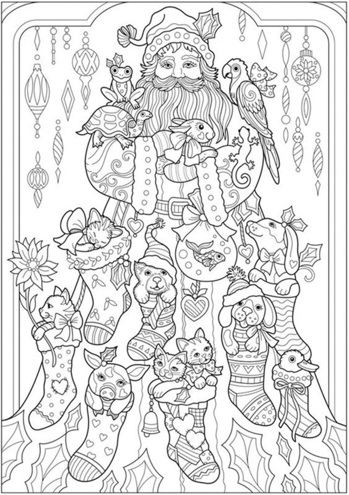 Free Easy To Print Adult Christmas Coloring Pages Tulamama