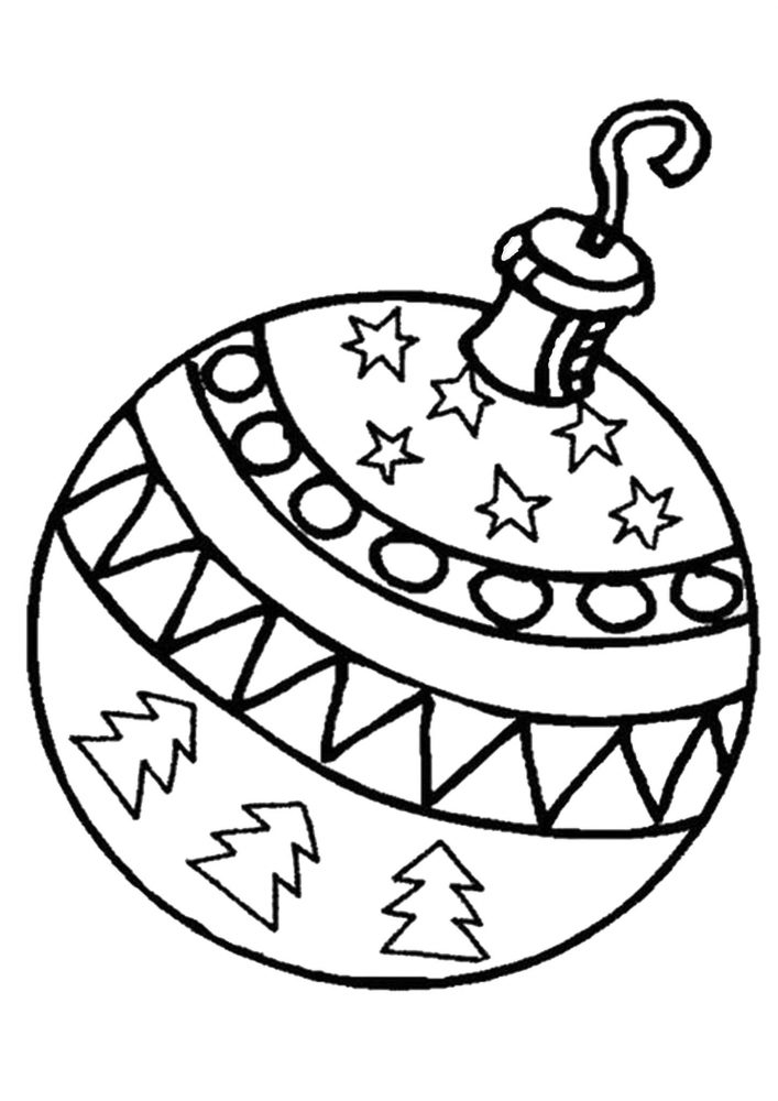 Christmas Ornament Coloring Pages - Tulamama