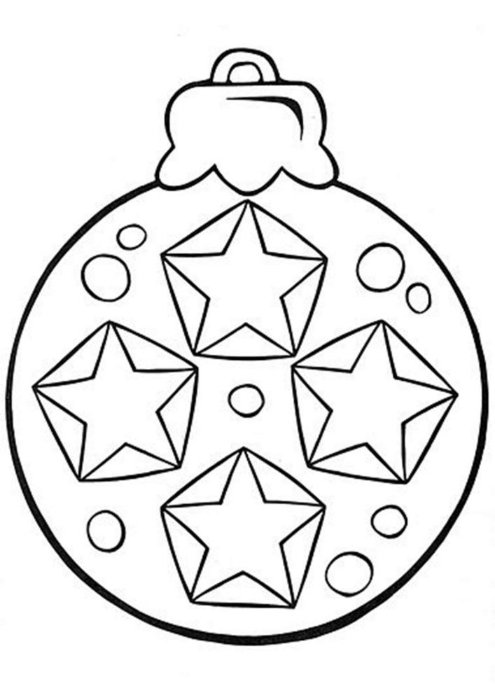 Fun Christmas ornament coloring pages for your little one. They are free and easy to print. The collection is varied with different skill levels