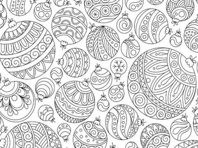 Free & Easy To Print Adult Christmas Coloring Pages - Tulamama