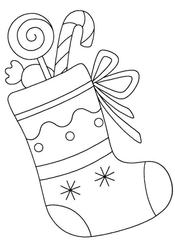 Christmas Stocking Coloring Pages For Kids - Tulamama