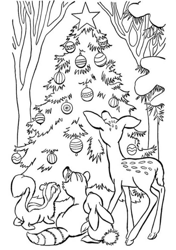 Free & Easy To Print Christmas Tree Coloring Pages - Tulamama