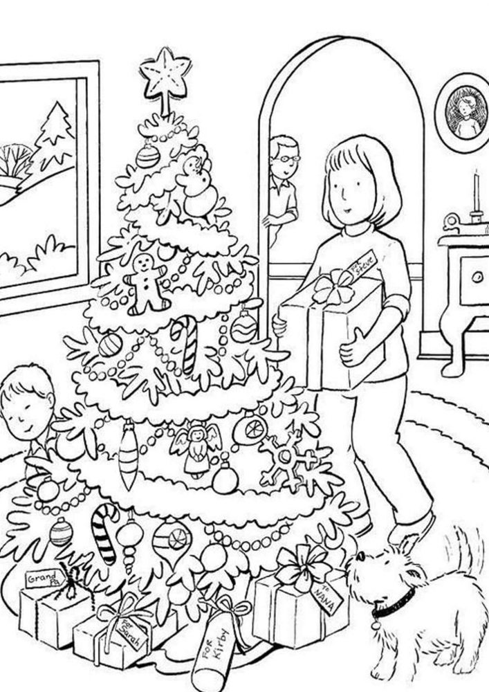 Fun Christmas Tree coloring pages for your little one. They are free and easy to print. The collection is varied with different skill levels