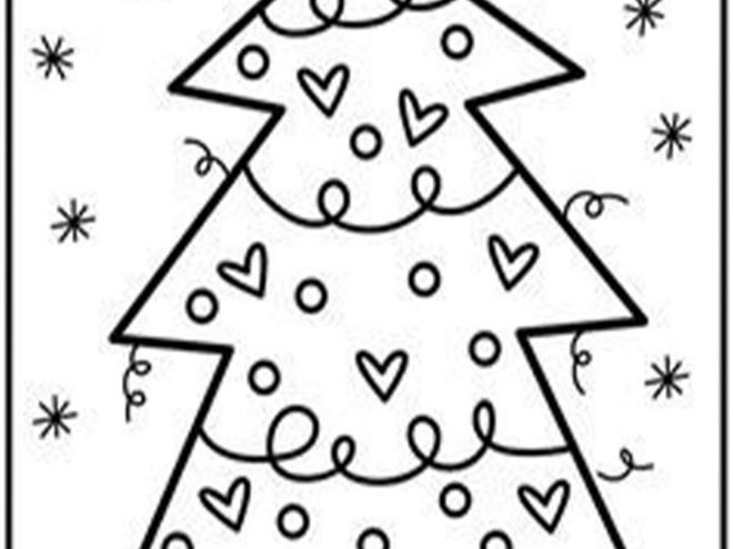 free easy to print christmas tree coloring pages tulamama print christmas tree coloring pages